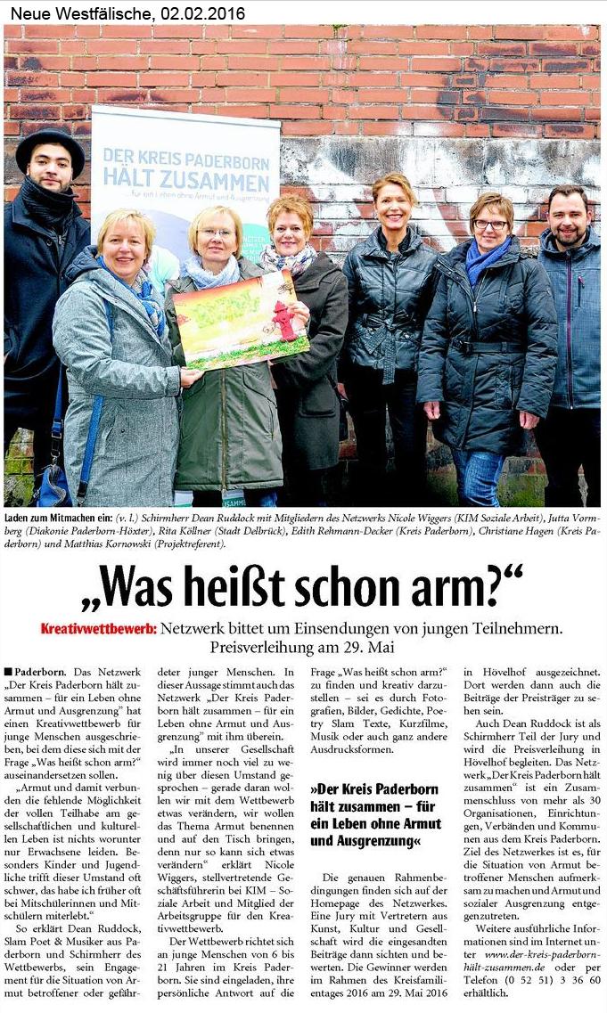 Neuen Westfälische, 02.02.2016