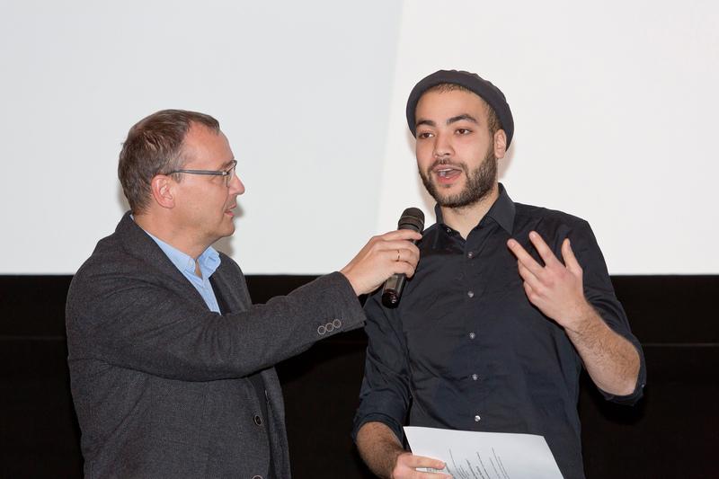 Moderator Knut Elstermann mit Dean Ruddock, Gewinner des NRW Wettbewerbs - Foto: Thomas Mohn