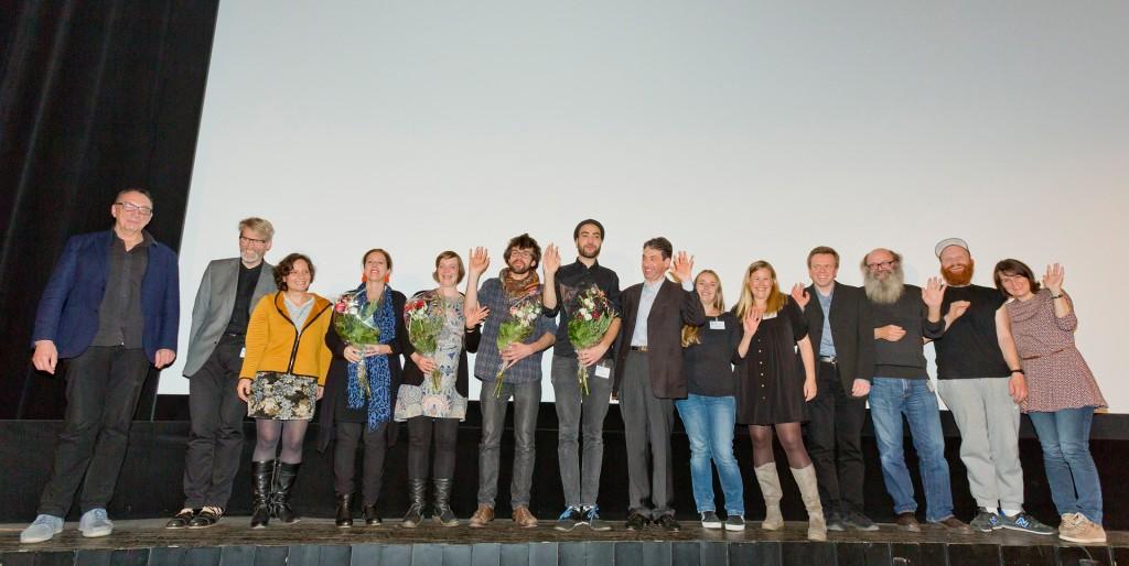 Die Preisträger, Jury und das Team des ZEBRA Poetry Film Festivals Münster | Berlin - Foto: Thomas Mohn
